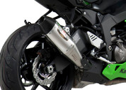 YOSHIMURA 146412D520 SLIP ON SO EXHAUST SYSTEM  RS-4 RS4 STAINLESS STEEL SS MUFFLER W CARBON CF END CAP  ZX-6R ZX6R ZX6 ZX-6 ZX636 636 ZX KAWASAKI NINJA  13 14 2013 2014 15 2015  BLACK ALUMINUM AL HEATSHIELD INCLUDED