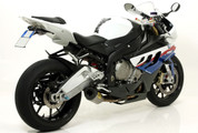 ARROW 71118CKZ COMPETITION SHORTY FULL SYSTEM BMW S1000RR 09-14     ARROW Full race Evo-2 (short) system with titanium/carbon silencer and titanium mid-pipe removing cat.   STAINLESS HEADER / COLLECTOR      Includes fitting kit and removable baffle.