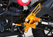 SATO RACING REARSET KIT REARSETS H-GROMRS-GD GOLD ALUMINUM GP SHIFT PATTERN  HONDA GROM MSX125 MSX 125   14 15 2014 2015