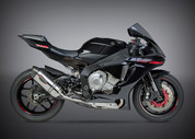 YOSHIMURA 131414M520 3/4 CAT DELETE SLIP ON EXHAUST SYSTEM   ALPHA STAINLESS W CARBON FIBER CF END CAP MUFFFLER W STAINLESS MID / LINK PIPE DELETES CAT  YAMAHA YZF-R1 YZFR1 YZF-R1000 R1 YZF  YZF-R1M R1M  15 16 2015 2016