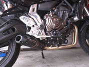 TWO BROTHERS RACING 005-4070107-S1B COMPLETE FULL EXHAUST SYSTEM  BLACK SERIES S1R S1-R CARBON FIBER MUFFLER   STAINLESS HEADER  / COLLECTOR & MID / LINK PIPE  YAMAHA FZ07 FZ-07 FAZER 700 FZ 07   2015 15 16 2016