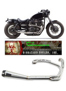 TWO BROS  005-3690199 COMP-S 2 INTO 1 COMPLETE FULL EXHAUST SYSTEM  STAINLESS STEEL SS HEADER / HEAD PIPE & 2 INTO 1 COLLECTOR  STAINLESS MUFFLER WITH CARBON FIBER CF END CAP  YAMAHA BOLT 14 15 16 2014 2015 2016