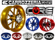 CARROZZERIA V-TRACK VTRACK WHEEL SET  ANY COLOR CHOICE WITH REAR SPROCKET  FORGED ALUMINUM AL FRONT & REAR WHEELS BMW S1000 S1000RR S 1000 1000RR 2015 2016 15 16