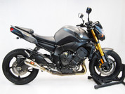 COMPETITION / COMP WERKES SLIP ON SLIP-ON SO EXHAUST SYSTEM  HAND WELDED STAINLESS GP SHORTY MUFFLER & MID PIPE  YAMAHA FZ08 FZ-08 FZ800 FZ8 800 8 FZ  10 11 12 13 2010 2011 2012 2013