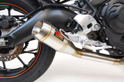 COMPETITION / COMP WERKES WY900-B SLIP ON SLIP-ON SO EXHAUST SYSTEM  BLACK COATED MUFFLER  HAND WELDED STAINLESS GP SHORTY MUFFLER & MID PIPE  REQUIRES CUTTING STOCK EXHAUST  YAMAHA FZ9 FZ09 FZ-09 FZ-9 FZ900 FZ 900 9 FAZER  13 14 15 16 2013 2014 2015 2016