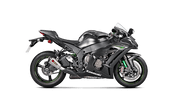 AKRAPOVIC S-K10SO17-ASZ SLIP-ON SO EXHAUST SYSTEM  TITANIUM SHORTY MUFFLER W CARBON FIBER CF END CAP  KAWASAKI NINJA ZX-10R ZX10R ZX 10R   16 2016