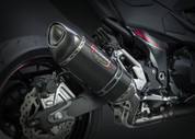 YOSHIMURA 148002M220 SLIP-ON EXHAUST SYSTEM  ALPHA CARBON MUFFLER W CARBON CF END CAP   STAINLESS SS MID / LINK PIPE   KAWASAKI Z800 Z8 ABS & NONABS   2016 16