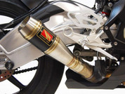 COMPETITION COMP WERKES WB1001 WB1001-BC SLIP ON SO EXHAUST SYSTEM WB1001  HAND WELDED STAINLESS STEEL SS MUFFLER W BLACK CENTER  BMW S1000 S1000RR 1000 1000RR  2015 15 16 2016