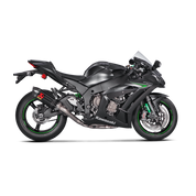 AKRAPOVIC S-K10R9-ZC RACING LINE COMPLETE FULL EXHAUST SYSTEM STAINLESS SS  HEADER / COLLECTOR & MID / LINK PIPE  CARBON FIBER CF MUFFLER  W TITANIUM INTERNALS  KAWASAKI ZX10R ZX-10R ZX10 ZX 10 10R 1000   2016 16