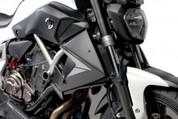 PUIG 7561J BLACK RADIATOR SIDE PANELS   YAMAHA FZ-07 FZ7 FZ-7 FZ07  FZ700 FZ 7 700  15 16 2015 2016