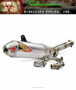 PRO CIRCUIT 0131725G COMPLETE FULL EXHAUST SYSTEM T-6  ALUMINUM AL MUFFLER STAINLESS SS  END CAP , MID / LINK PIPE & HEAD PIPE  YAMAHA YZ250F YZ-250F YZ 250F 250 YZ250 2017 17