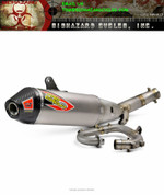 PRO CIRCUIT TI-6 TI6 PRO 0331725FP COMPLETE FULL EXHAUST SYSTEM  TITANIUM HEADP PIPE,  MID / LINK PIPE & MUFFLER  CARBON FIBER CF END CAP YAMAHA YZ250F YZ-250F YZ 250F 250 YZ250 2017 17