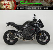 HINDLE 75-0416-34CC  3/4 SLIP-ON EXHAUST  CARBON FIBER MUFFLER W CARBON END CAP  CAT DELETE MID PIPE   YAMAHA FZ-10 FZ10 MT10 MT-10   17 2017