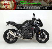 HINDLE 75-0416-34S 3/4 SLIP-ON EXHAUST   STAINLESS MUFFLER & END CAP  CAT DELETE MID PIPE   YAMAHA FZ-10 FZ10 MT10 MT-10   17 2017