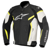 ALPINESTARS 3100617-125 GP PLUS R V2 AIRFLOW LEATHER JACKET  Black/White/Yellow Fluo
