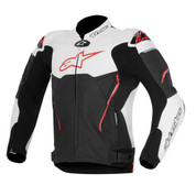 ATEM LEATHER JACKET 3106515-123 Black/White/RED