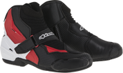 ALPINESTARS SMX-1 R VENTED BOOT 2224016-123 BLACK WHITE RED