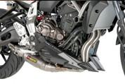 PUIG 7022J MATTE BLACK CHIN - ENGINE SPOILER  FZ07 15-17
