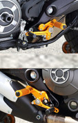 SATO RACING REAR SET KIT BLACK GOLD OR SILVER  DUCATI SCRAMBLER