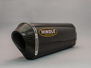 HINDLE 76-0502CC CARBON MUFFLER SLIP ON EXHAUST SYSTEM DAYTONA 675R 13-17