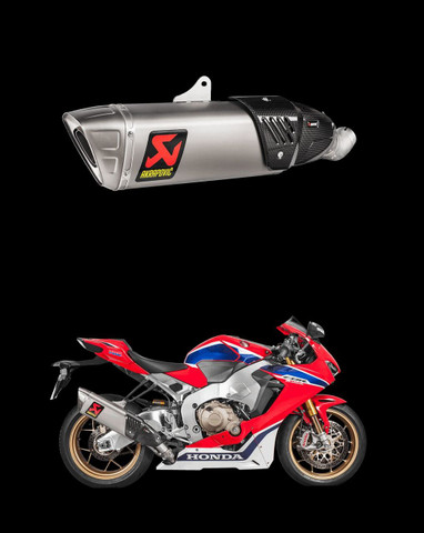 S-H10SO17-HAPXLT AKRAPOVIC S-H10SO17-HAPXLT TITANIUM SLIP-ON EXHAUST CBR1000RR 17-18