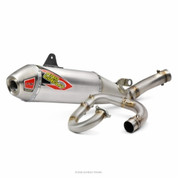 PRO CIRCUIT 0131845G COMPLETE FULL EXHAUST SYSTEM T-6  ALUMINUM AL MUFFLER STAINLESS SS  END CAP , MID / LINK PIPE & HEAD PIPE  YAMAHA YZ450F YZ-450F YZ 450F 450 YZ450 2018 18