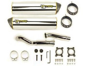 TWO BROTHERS DUAL M2 AL EXHAUST GSXR1000 09 2009 SUZUKI GSX-R1000 ALUMINUM SLIP ON 005-2420406DV