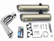 TWO BROTHERS DUAL TI EXHAUST CAN AM SPYDER 990 08 09 2008 2009 DUAL TITANIUM SLIP ON  005-2290408DV