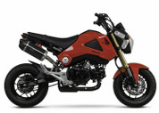 YOSHIMURA 121202H220 SLIP ON SO EXHAUST SYSTEM  CARBON RS-9 RS9 MUFFLER WITH CARBON FIBER CF END CAP  STAINLESS LINK / MID PIPE  HONDA GROM 2014 14 15 16 2015 2016