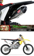 YOSHIMURA 219202D320 SLIP ON SO EXHAUST SYSTEM RS4 RS-4 ALUMINUM  AL MUFFLER W CARBON FIBER CF END CAP STAINLESS STEEL SS LINK / MID PIPE SUZUKI  RM-Z450 RMZ 450 RMZ450 RMZ-450  RM Z450 2008 2009 2010 2011 2012 2013 08 09 10 11 12 13 14 2014 15 2015 16 2016 17 2017