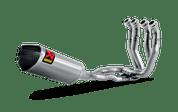 AKRAPOVIC S-H10R7-TT RACE FULL EXHAUST SYSTEM  STAINLESS STEEL SS HEADERS & MID PIPE  TITANIUM TI MUFFLER WITH CARBON CF END CAP HONDA CBR1000RR CBR1000 CBR 1000 1000RR FIREBLADE ABS 12 13 14 15 2012 2013 2014 2015 16 2016