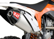 YOSHIMURA 263502D321 SLIP ON SO EXHAUST SYTEM RS-4 RS4 MUFFLER STAINLESS STEEL SS W CARBON CF END CAP KTM 250 350 450 SX-F SXF SX F FACTORY EDITION  11 12 13 14 15 2011 2012 2013 2014 2015