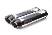 TWO BROTHERS 005-2290406DV-B BLACK DUAL AL EXHAUST CAN AM SPYDER 990 RS 08-12