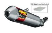 FMF 041522 Q4 HEX SINGLE MUFFLER SLIP ON EXHAUST SYSTEM HONDA CRF250R CRF250 CRF 250 250R   14 15 2014 2015