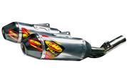 FMF RACING 041497 FACTORY 4.1 RCT SLIP ON EXHAUST  ALUMINUM MUFFLER W CARBON FIBER END CAP  HONDA CRF450R CRF450 CRF 450 450R  2015 15 16 2016