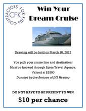 Dream Cruise Raffle Ticket