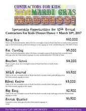Fat Tuesday Sponsorship