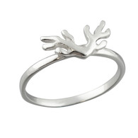 Antler Ring - 925 Sterling Silver
