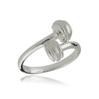Dumbbell Ring - 925 Sterling Silver