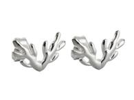 Antler Stud Earrings - 925 Sterling Silver