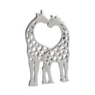 Two Kissing Giraffes Charm - 925 Sterling Silver