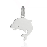 Dolphin Charm  -  925 Sterling Silver