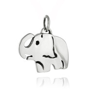 Elephant Charm Pendant - 925 Sterling Silver
