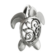 3D Sea Turtle Necklace - 925 Sterling Silver