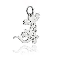 Gecko Charm - 925 Sterling Silver