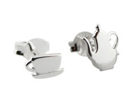Tea Earrings - Teacup and Teapot Posts - 925 Sterling Silver