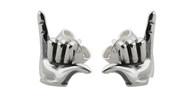 Hang Loose Post Earrings - 925 Sterling Silver