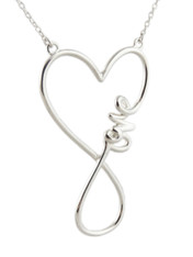 Infinity Love Heart Necklace - 925 Sterling Silver
