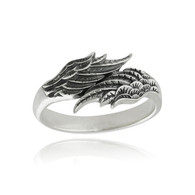 Angel Wing Ring - 925 Sterling Silver Ring