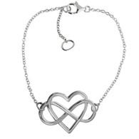 Infinity Heart Bracelet - 925 Sterling Silver